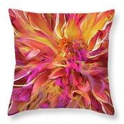 Magenta Sunshine Throw Pillow by Cindy Greenstein