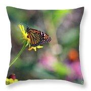 Magical Monarch Throw Pillow