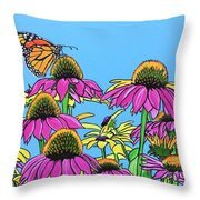 Magnificant Monarch Throw Pillow