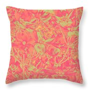 Magnolia Abstract Throw Pillow by Mae Wertz