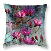 Magnolia At Midnight Throw Pillow
