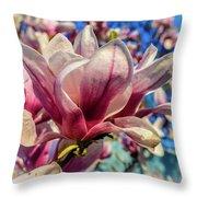 Magnolia Flowers Throw Pillow by Louis Dallara