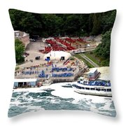Maid Of The Mist Tour Boat At Niagara Falls Throw Pillow by Rose Santuci-Sofranko