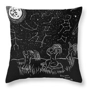 Maidens Of The Eath And Sky Throw Pillow