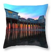 Maine Magnificent Morning Throw Pillow