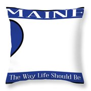 Maine State License Plate Throw Pillow