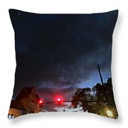 Maine Street Sunset  Throw Pillow