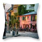 Maison Rose Evening II Throw Pillow by Brian Jannsen