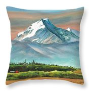 Majestic Mount Cook Throw Pillow