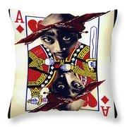 Makiavellian Conundrum - Tupac Shakur Throw Pillow
