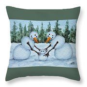 Making A Snowbaby Throw Pillow