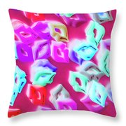 Making Out A Sensual Scene Throw Pillow