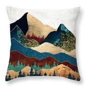 Malachite Mountains Throw Pillow
