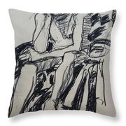 Male Nude I Throw Pillow