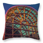 Mall Sundown Throw Pillow