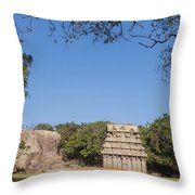 Mamallapuram, Ganesha Ratha Throw Pillow