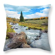 Mammoth Autumn Throw Pillow