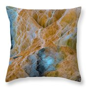 Mammoth Hot Springs Throw Pillow by Mae Wertz