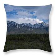 Mammoth Lake California Aerial View Throw Pillow by Michael Ver Sprill