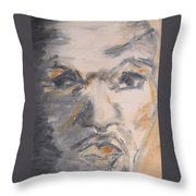 Man Coming From Shadow Throw Pillow
