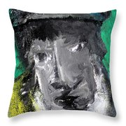 Man In A Scarf Throw Pillow