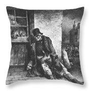 Man On The Street Throw Pillow