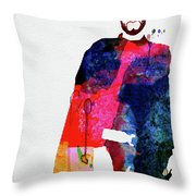 Man With No Name Watercolor Throw Pillow