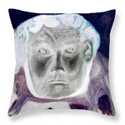Man With Purple Udders Throw Pillow