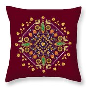 Mandala Flowering Series#2. Terracotta Throw Pillow