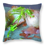 Mango And Two Onions Throw Pillow