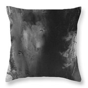 Manistee River Aerial Black And White Panorama Throw Pillow