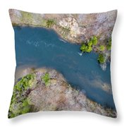 Manistee River From Above Throw Pillow