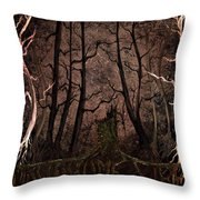 Many A Night Throw Pillow