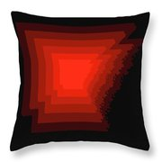 Map Of Arkansas Red Throw Pillow