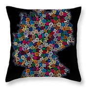 Map Of Germany-2 Throw Pillow