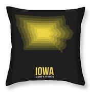 Map Of Iowa Throw Pillow
