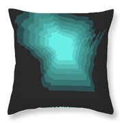Map Of Wisconsin 3 Throw Pillow