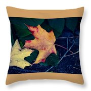 Maple And Ground Throw Pillow