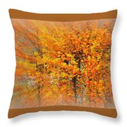 Maple Focal Zoom Throw Pillow