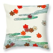 Maple Leaf - Japanese Traditional Pattern Design Throw Pillow