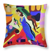 Marc And Bella Chagall Throw Pillow