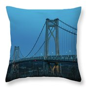 March Evening At Mid-hudson Bridge 2019 Throw Pillow