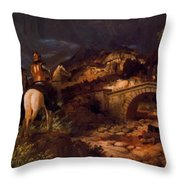 March Of The Goths Throw Pillow
