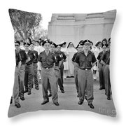 Marchers And Convent Members Throw Pillow