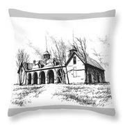 Marcus Daly Tammany Barn Hamilton Montana Throw Pillow