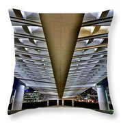 Margaret Hunt Hill And City From Underneath Throw Pillow