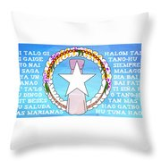 Marianas Anthem Throw Pillow by Michelle Dallocchio