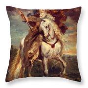 Marie De Medici At Pont De Ce Throw Pillow