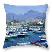 Marina Of Costa Adeje Throw Pillow