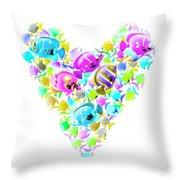 Marine Love Throw Pillow